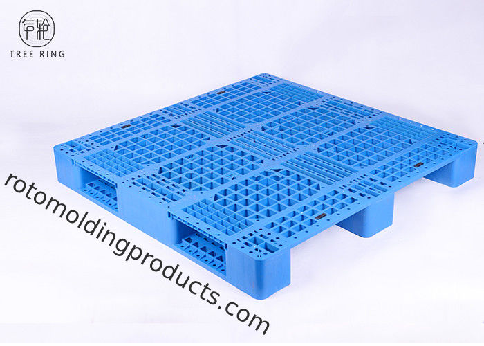 P1212 Industrial Rackable Recycle Plastic Pallet For Warehouse Package Single Face