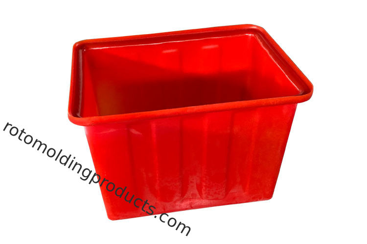 Red Heavy Duty 160L Plastic Recycling Bins Water Tank For Aquaponic Fish Fram